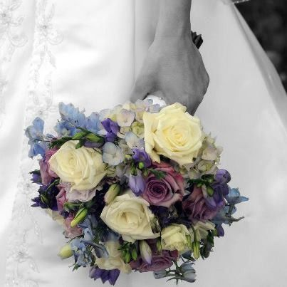 Tmx 1385129262515 Soft Blue And Purple Bouque Altoona, Pennsylvania wedding florist