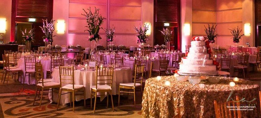 Wedding Celebration in Santa Barbara Resort Ballroom