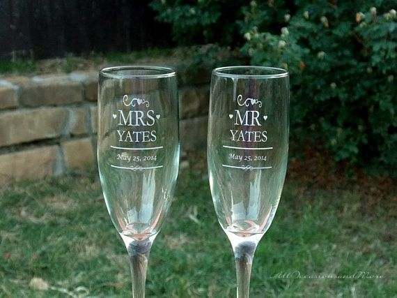 Tmx 1432329215711 Mr And Mrs Champagne Flutes 2 Slidell wedding favor