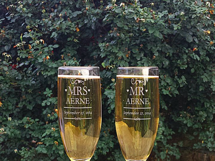 Tmx 1432329218138 Mr And Mrs Champagne Flutes 3 Slidell wedding favor