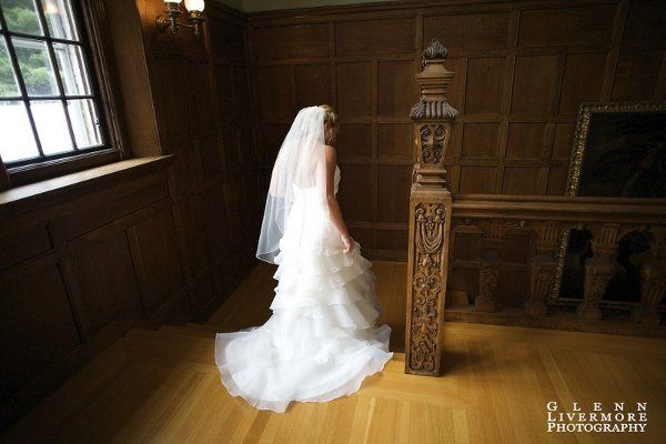 Bride in her wedding gown