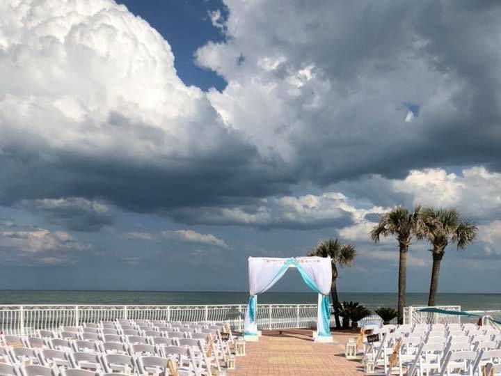 Tmx 1535215102 37dacde81e1200af 1535215099 6ce2b3525f86c4e5 1535215098252 6 SB Terrace Ceremon Daytona Beach, FL wedding venue