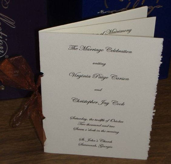 Weddingprogram