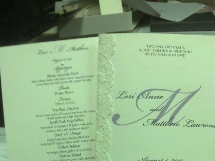 Tmx 1354652345739 20120723161327812 West Babylon wedding invitation