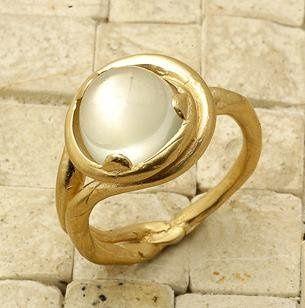 14K Yellow Gold Handmade Engagement Bridal Ring