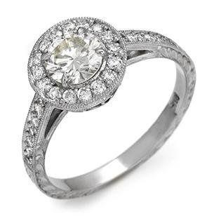 White Gold or Platinum & Diamond Custom Engagement Ring