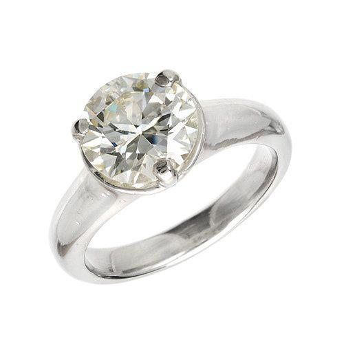 Platinum Vintage Diamond Custom Engagement Ring