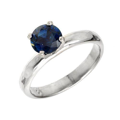 Platinum Sapphire Custom Engagement Ring