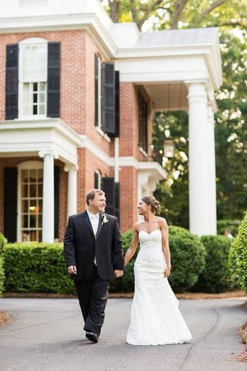 Peaceful Walk of Mr. and Mrs. from the Governor's Mansion