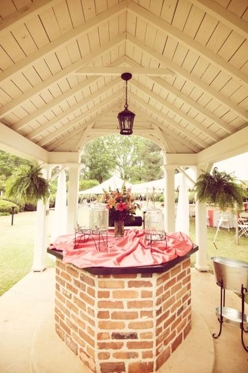 The well house makes a great display and convenient location for a drink station. Use a beautiful...
