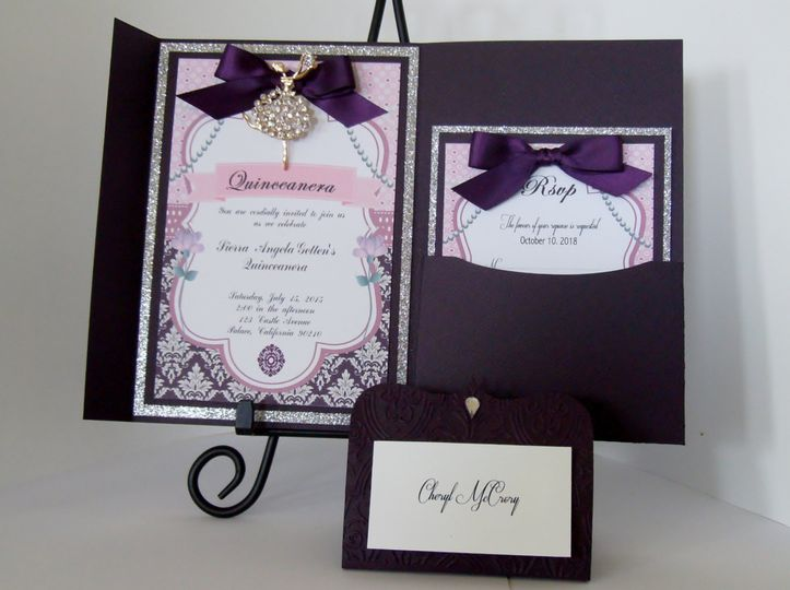 Luxurious Rhinestone Invite