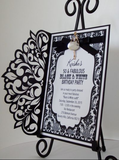 Rhinestone Lady Invitation