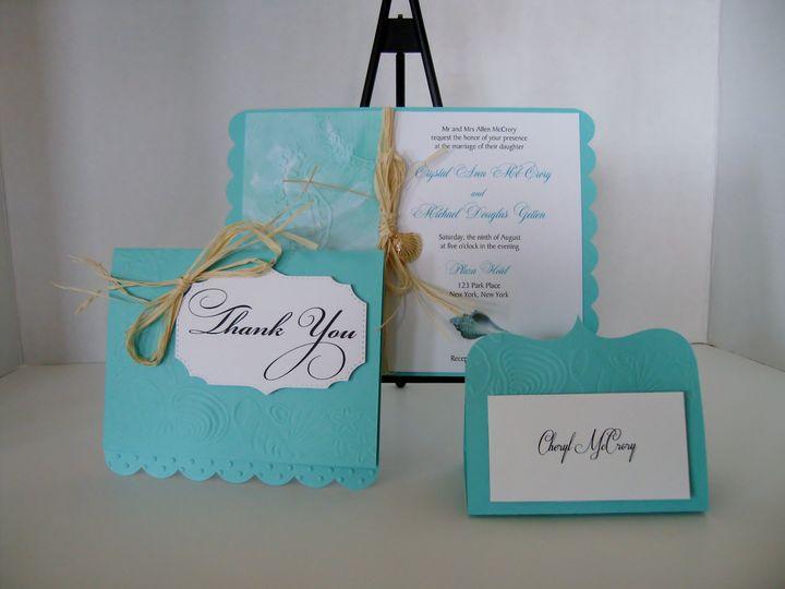 Tmx Beach Seahorse Cardsss 51 372206 Moreno Valley, CA wedding invitation