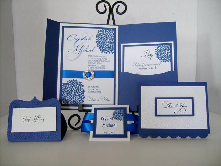 Tmx Blue Floral Invitation 51 372206 Moreno Valley, CA wedding invitation