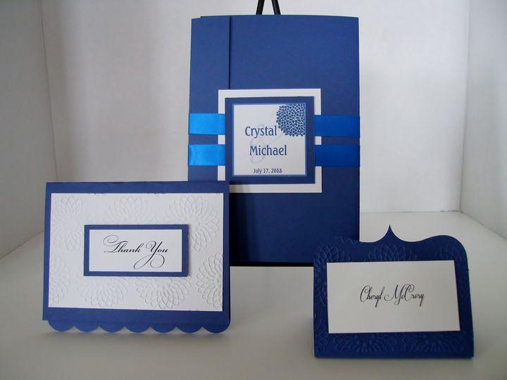 Tmx Chrysanthemum Glam Blue 51 372206 Moreno Valley, CA wedding invitation