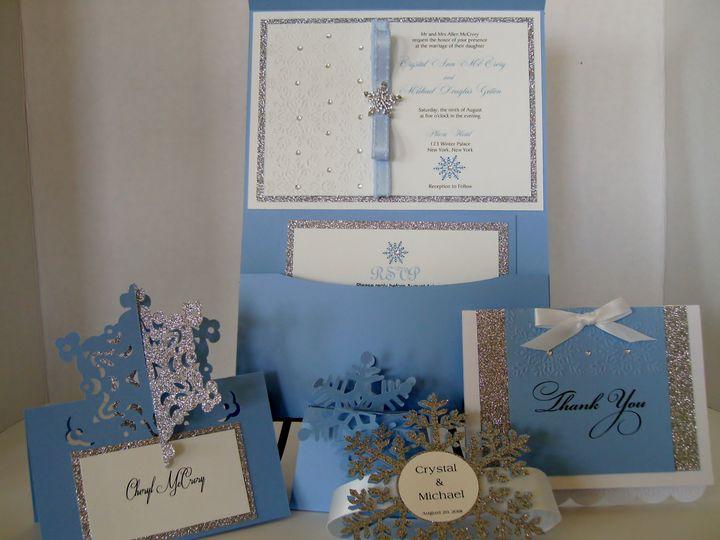 Tmx Frozen Open Card 51 372206 Moreno Valley, CA wedding invitation