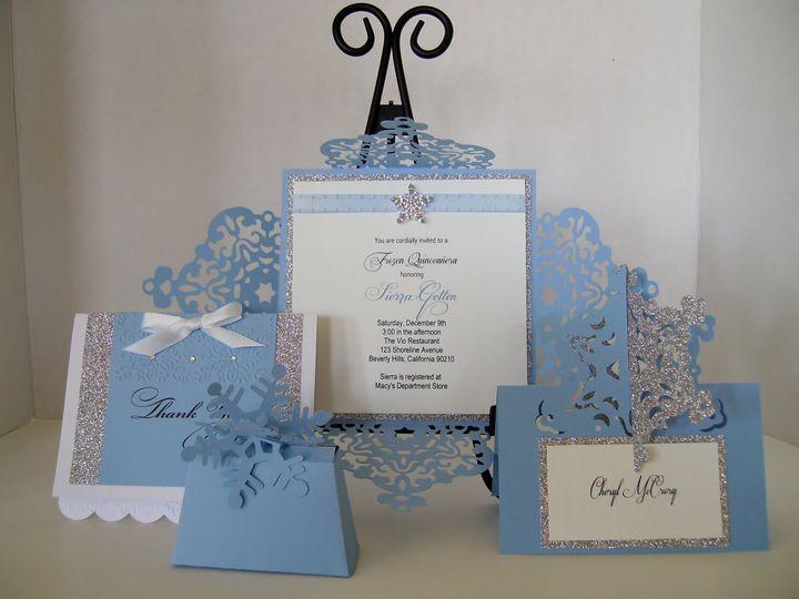 Tmx Frozen Snowflake Cards 51 372206 Moreno Valley, CA wedding invitation
