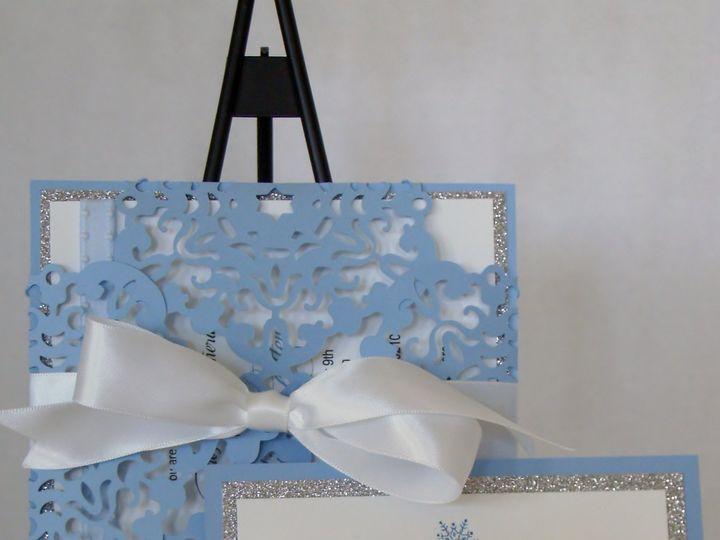 Tmx Frozen Snowflake 51 372206 Moreno Valley, CA wedding invitation