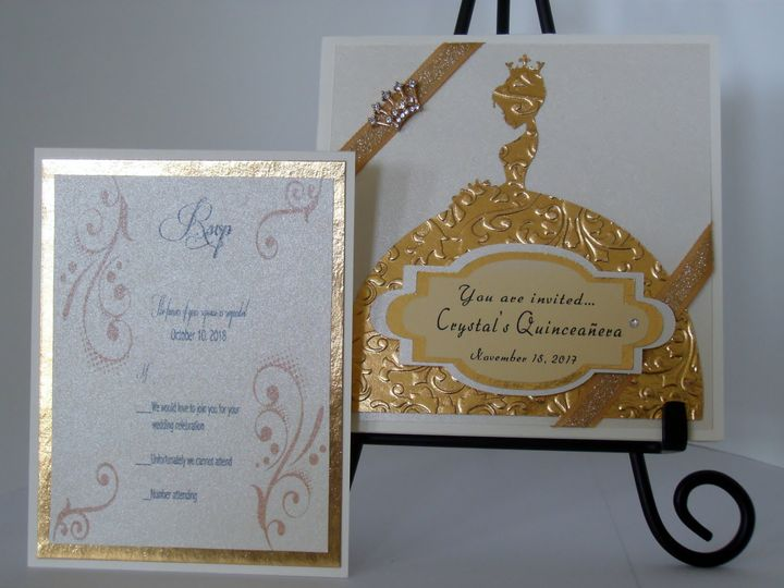 Tmx Golden Elegance Quinceanera 51 372206 Moreno Valley, CA wedding invitation