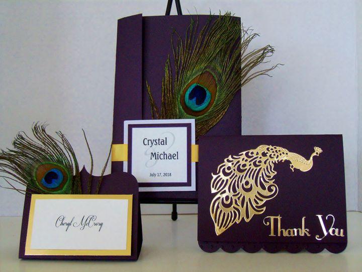Tmx Golden Peacock Invitation 51 372206 Moreno Valley, CA wedding invitation