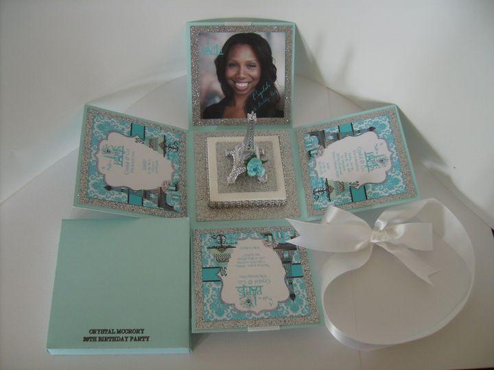 Tmx I Love Paris Tiffany Custom Open Exploding Box Invitation 51 372206 Moreno Valley, CA wedding invitation