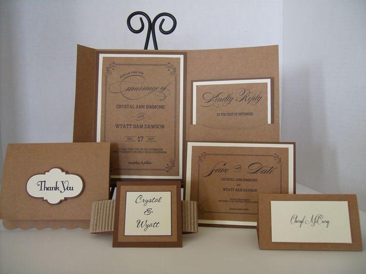 Tmx Kraft And Ivory Invitation 51 372206 Moreno Valley, CA wedding invitation