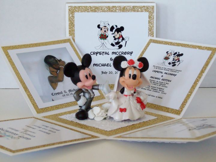 Tmx Mickey Minnie Wedding Exploding Box Invitation Inside Copy 51 372206 Moreno Valley, CA wedding invitation