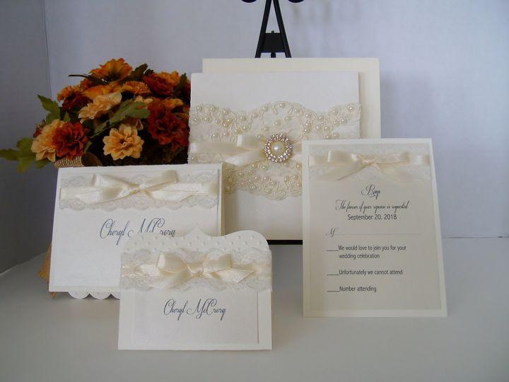 Tmx Pearls Lace Invitation 51 372206 Moreno Valley, CA wedding invitation