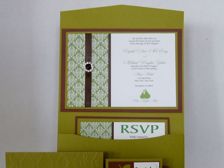 Tmx Perfect Pear Damask Suite 51 372206 Moreno Valley, CA wedding invitation