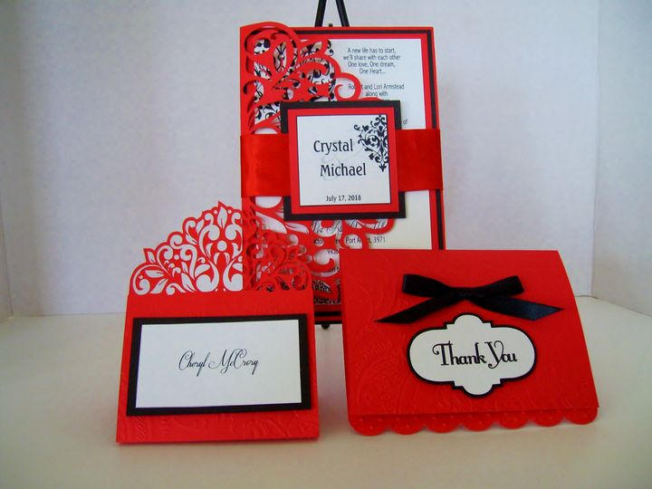 Tmx Ravishingred Card 51 372206 Moreno Valley, CA wedding invitation