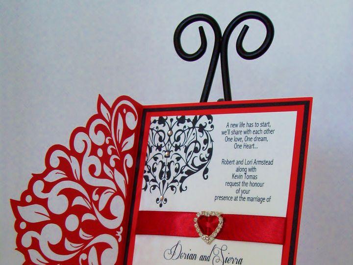 Tmx Ravishingred Lace 51 372206 Moreno Valley, CA wedding invitation