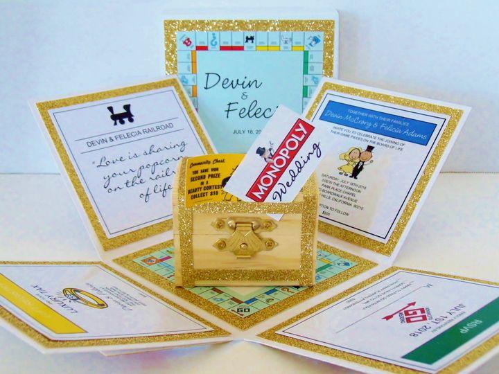Tmx Wedding Monopoly Exploding Box Invitation Inside 51 372206 Moreno Valley, CA wedding invitation