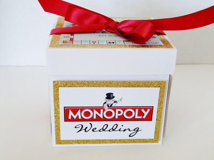 Tmx Wedding Monopoly Exploding Box Invitation Rib Side 51 372206 Moreno Valley, CA wedding invitation