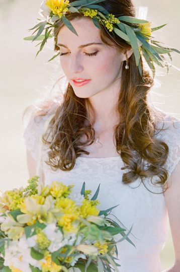 Bride with matching flowers