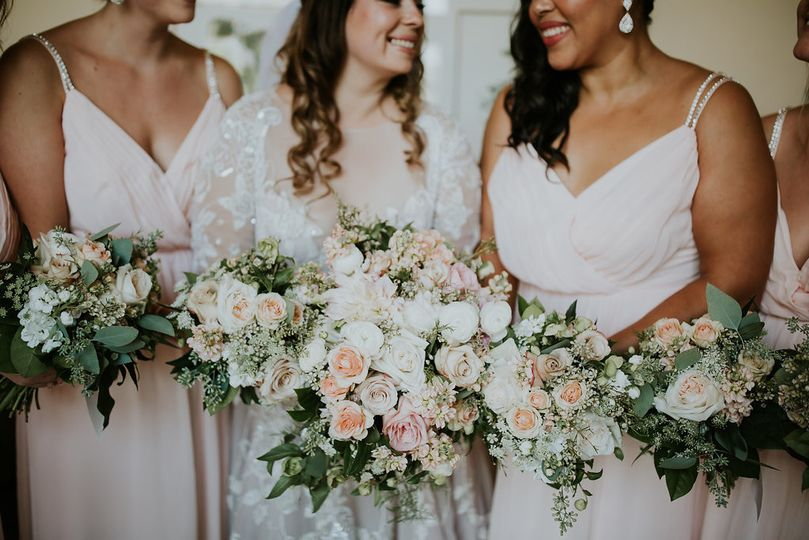 Bride and her wedding party