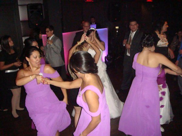Bride and Bridesmaids on the dance floor!