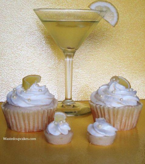 Lemon Drop cupcakes made with Vanilla Stoli