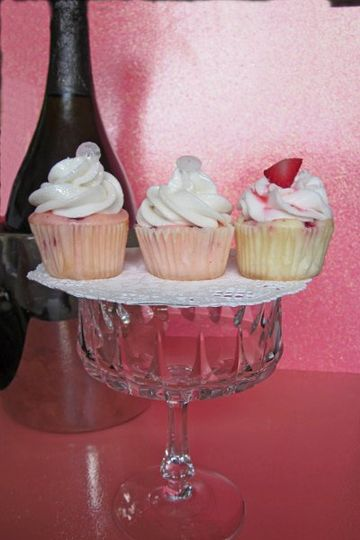 Top Shelf Strawberries and Champagne cupcakes.