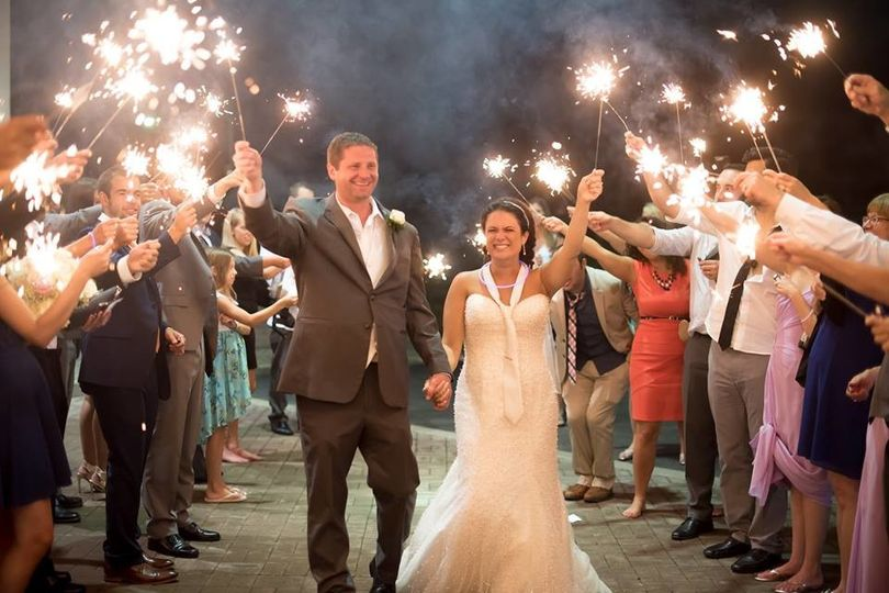 What an amazing moment captured during the bride and grooms sparkler send off.