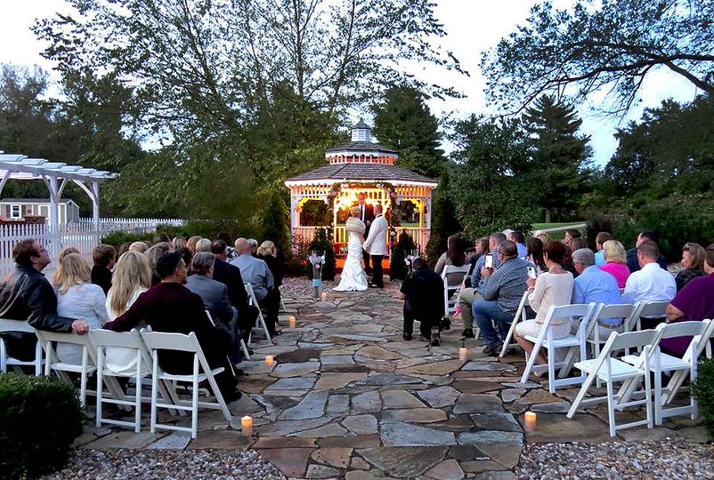 Our gazebo area offers an intimate setting for weddings of 50 or less.