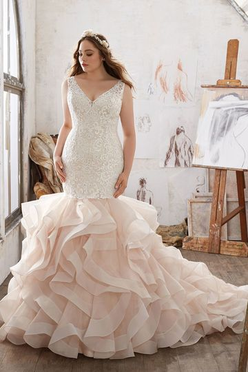 Miranda, Style 3216	Timeless and Elegant, This Tulle Ballgown Features a Crystal Beaded Alençon Lace...