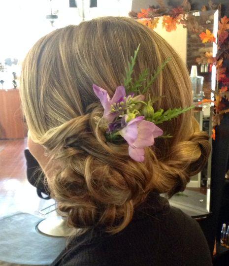 b maid braid and flower