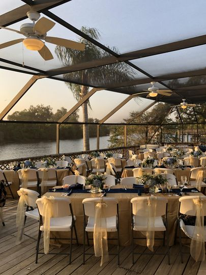 Patio at Sunset on the River