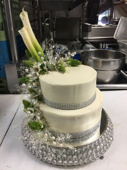 Two tier decorated cake