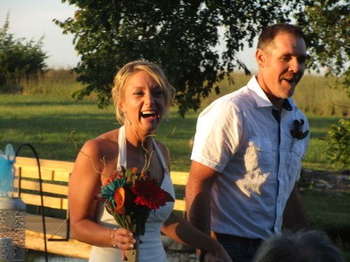 Our daughter Amy and son in law Josh after their wedding/