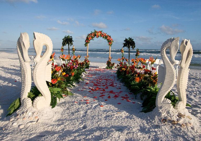 bigstock beach wedding path archway 4059772