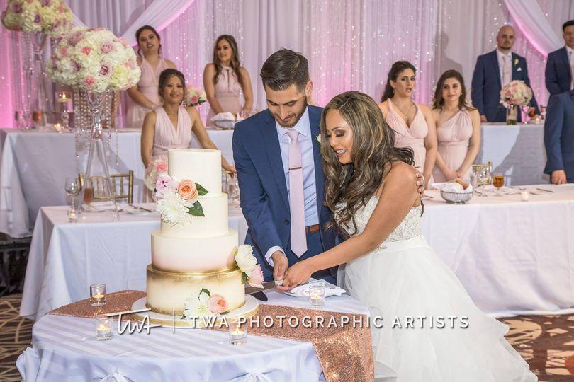 Wedding cake cutting