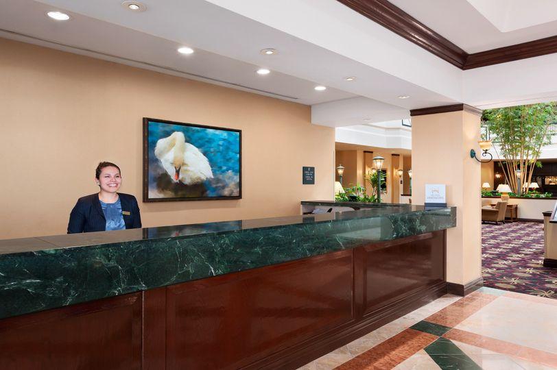 front desk reception area embassy suites dulles ai