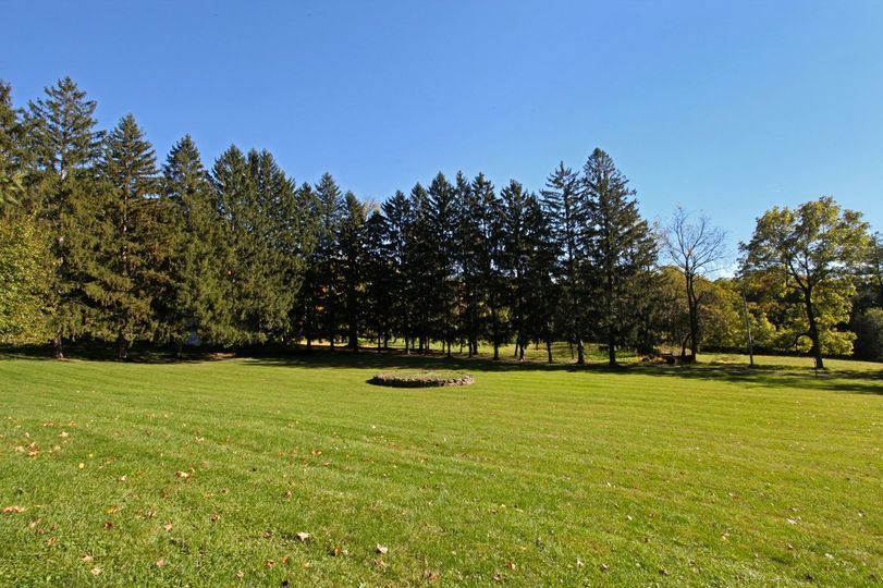 Lawn area perfect for tenting a large wedding