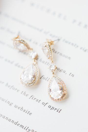 Earrings for the bride